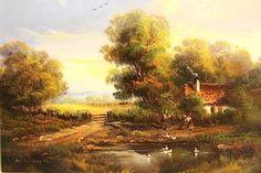 Ölgemälde Holländische Landschaft