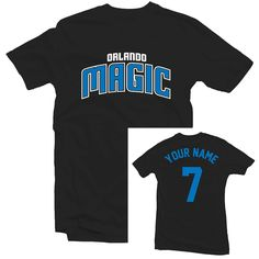 Orlando Magic Thunder Team Spirit Personalized Basketball Jersey Shirt by LexDesignStudio on Etsy
