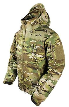 Multicam Summit Zero Lightweight Soft Shell Jacket. This durable, waterproof, lightweight, breathable fabric contains billions of microscopic pores smaller than a raindrop, but hundred times larger than a molecule of water vapor. The triple layer combination wicks moisture, stop water from passing through, and circulate body heat. Lined stand-up collar Stow-away hoodie