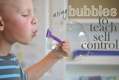 This is a great post on how you can use the ever exciting bubbles to really help your child practice self-control.