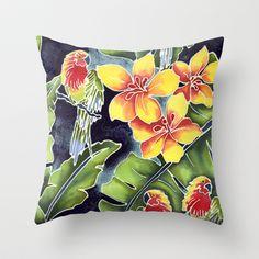 Tiki Talk Throw Pillow by Vikki Salmela - $20.00