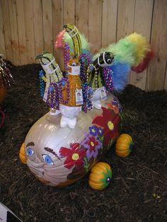 Mardi Gras float decorated pumpkin at The Big E 2005.