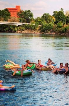Tubing down the Chippewa River - Eau Claire