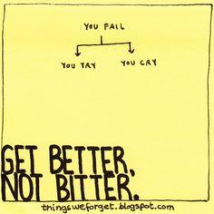955: Get better, not bitter.