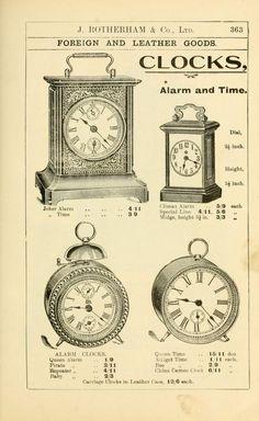 General price list. clocks
