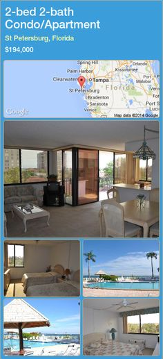 2-bed 2-bath Condo/Apartment in St Petersburg, Florida ►$194,000 #PropertyForSaleFlorida http://florida-magic.com/properties/64595-condo-apartment-for-sale-in-st-petersburg-florida-with-2-bedroom-2-bathroom