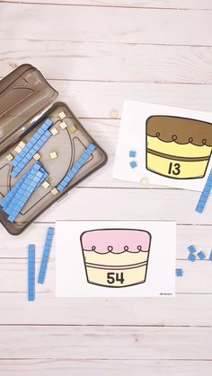 First grade students need to build a strong understanding of place value.  This tens and ones cake game is a fun and hands-on way to practice composing 2-digit numbers during math centers!