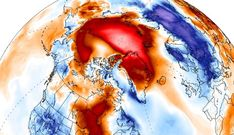 Arctic temperatures are warmer than ever recorded in February - more than 50°F (30°C) above normal. (Feb. 2018)