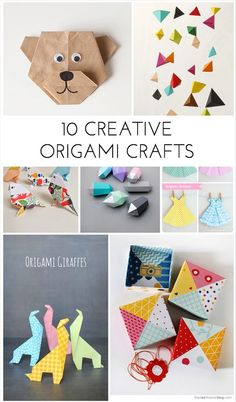 Creative and fun origami crafts for kids and adults to make together!