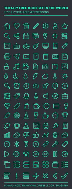 112 Free and Fully Scalable Vector Icons