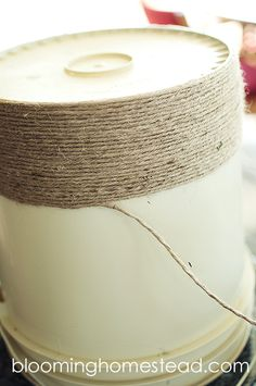 Blooming Homestead: DIY Jute Bucket Makeover