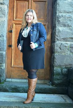 Jacket : Forever 21+   Dress: Signify (Ross)  Boots: Torrid