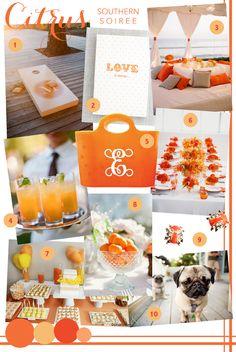 inspiration for an orange bridal shower!