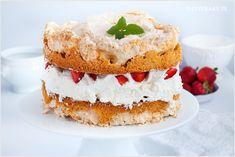 torcik bezowy-3 Vanilla Cake, Sweets, Desserts, Mascarpone, Tailgate Desserts, Deserts, Gummi Candy, Candy, Goodies