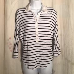 Bebe Striped Batwing Blouse sz S Summer Blouse EUC Good condition no issues gently worn - let's be friends add me on Instagram @OrnamentalStone Facebook Group: Jaded And Traded Pinterest OrnamentalStone /Jaded And Traded Clothes For Sale xoxo bebe Tops Blouses