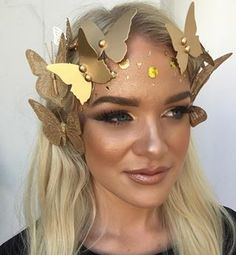 And an IRL version of the gold butterfly Snapchat filter. | 21 Halloween Costumes So Good You'll Wish You Thought Of Them