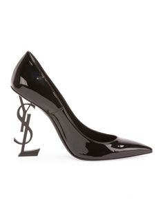 Saint Laurent Patent 110mm YSL-Heel Pump | Buy ➜ https://shoespost.com/saint-laurent-patent-110mm-ysl-heel-pump/