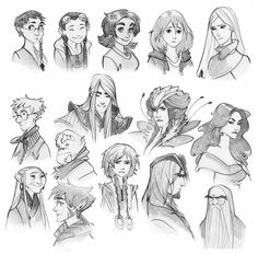 Super good character drawings. Love the rightmost sexy lady.    w.i.t.c.h. nostalgia Doodles by *Phobs
