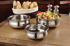 Moroccan Hammered Bowls: Individually designed, these bowls make great serving vessels for both ethnic and everyday foods.