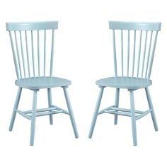 Dunner  Danish Design Spindle Back Light Blue Dining Chairs (Set of 2) | Overstock.com Shopping - The Best Deals on Dining Chairs