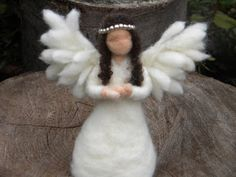 Etsy: Guardian Angel - Needle Felted Angel Doll 14cm