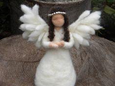 Etsy: Guardian Angel - Needle Felted Angel Doll 14cm