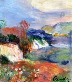 Pierre-August Renoir - Cliff by the Sea, undated