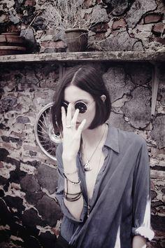 Ruby Aldridge wears AW12 DM Femme Blouse shot by Edouard Plongeon www.davidmichael.us