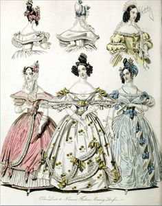 All sizes | The World of Fashion and Continental Feuilletons 1836 Plate 10 | Flickr - Photo Sharing!