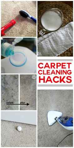 My favorite carpet cleaning hacks because a professional cleaner is not only a pain, it's really expensive!