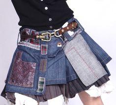 jupe en jean patchwork von zinnia auf DaWanda.com