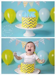 Banner Bunting 11 Fabric Flags 5 Feet Birthday Party Photo Prop Mint Polka Dot Aqua Grey Yellow Chevron Boy Baby Shower