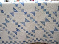 blue and white quilts | Blue and white UFO quilt