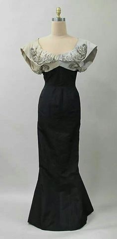 Evening dress Charles James 1942-53, silk