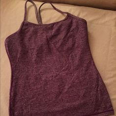 Lululemon Power Y Tank Eggplant/maroon heather top. Excellent condition! Worn only a couple times! lululemon athletica Tops Tank Tops