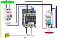 Esquemas eléctricos: maniobra con contactor y reloj horario