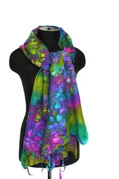 Felted Textured Scarf
