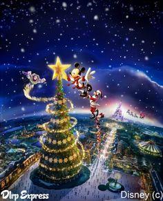 Disneyland Christmas Tree