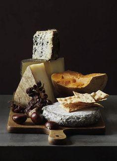 William Meppem food photography - a cheese board - via Igor Mamantov