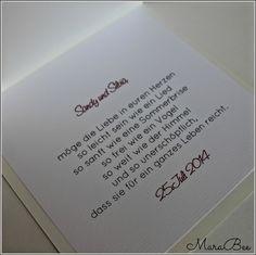 MaraBee´s Welt: Die Hochzeitsglocken läuten!
