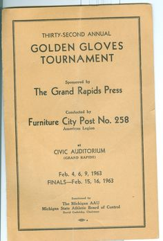Program from the 32nd Annual Golden Gloves Tournament featuring Buster Mathis - 1963