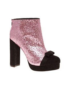 ASOS glitter ankle boot