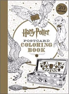 Harry Potter Postcards Adult Colouring Coloring Stress Relief Mindfulness 2016 Preorders Book Review