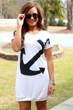 anchor tunic dress | shopofftheracks.com