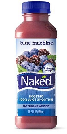 Naked Juice Smoothie blue machine ... 27 Blueberries 3 Blackberries 3 1/4 Apples 1 Banana