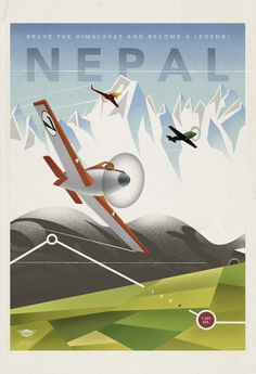 """Nepal   7 Cool Vintage Travel Posters For Disney's """"Planes"""" #Disney #Planes #Nepal"""