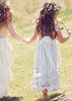 "Aussie label Tea Princess offers a stunning collection of flower girl dresses and accessories, but we're especially smitten with the brand's breezy, bohemian ""Enchanted Garden White Crochet Dress."" For more #flowergirl tips, tricks, inspiration & ideas, visit us at www.flowergirlworld.com!"