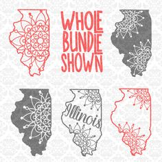 Illinois Mandala Intricate Henna Filigree Zentangle SVG DXF Ai Eps PNG Vector Instant download commercial use cutting file cricut silhouette by CraftyLittleNodes on Etsy