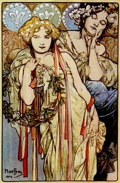 Mucha 1904 'Friendship' mpt.1607, via Flickr