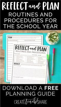 Download this FREE planning guide for the back to school season. Use it to reflect and plan different routines and procedures for the upcoming school year. This guide will help you to get a solid classroom management plan in place.
